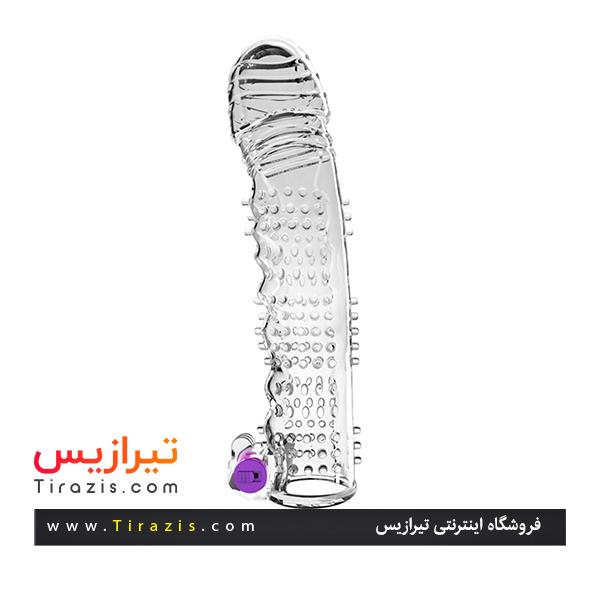 خرید محرمانه کاندوم ژله ای ویبره دار مدل گرگی ، پک کاملا بهداشتی